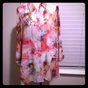 Floral Chico blouse size 2